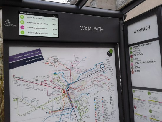 Luxembourg American Cemetery Memorial: Get on Bus 15 at this Wampach stop from city center