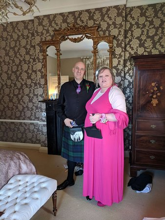Slane, Irland: Me n the wifey in our suite