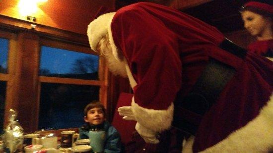 Great Smoky Mountains Railroad: Santa appears