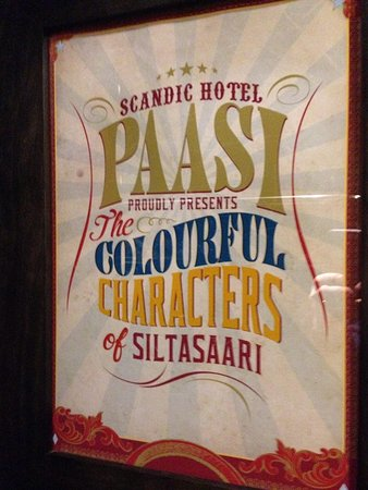 Scandic Paasi : Framed print explaining theme of room