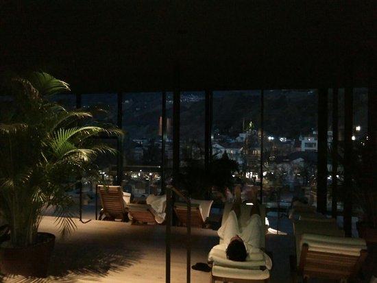 Hotel Therme Meran: Sala relax panoramica