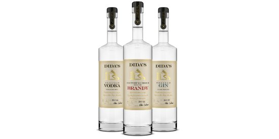 Huntly, VA: Dida's Distillery Spirits: Pressed Vodka, Vintner's Choice Brandy, Pressed Gin