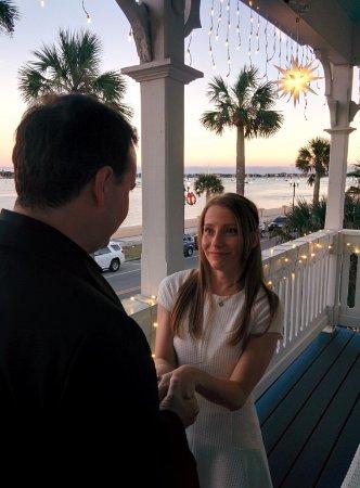 Bayfront Westcott House Bed & Breakfast: Our wedding in St Augustine FL USA