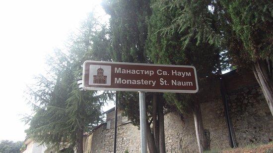 Monastery of Saint Naum: il cartello