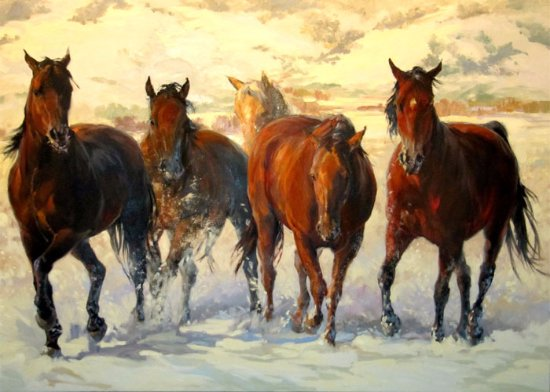 Golden, CO: Snowy Day Giclee at Spirits in the Wind Gallery