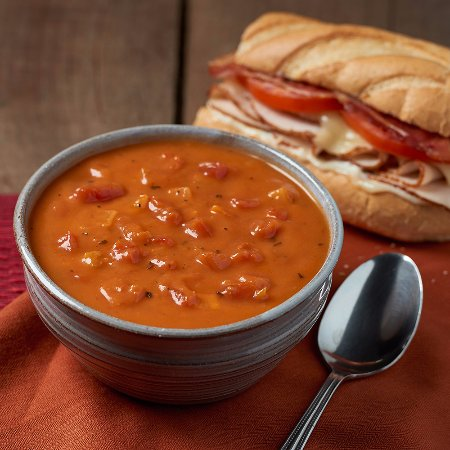 Blue Bell, PA: Fire-Roasted Tomato Bisque & Turkey Club