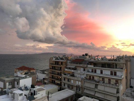 Atrion Hotel: Ausblick von der Terrasse