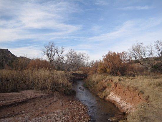 Canyon, TX: View along the Paseo del Rio Trail