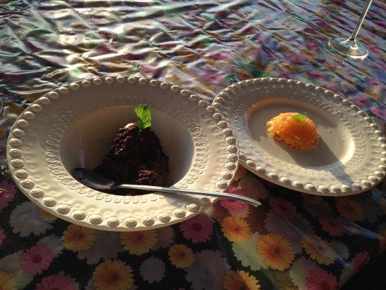 Faja Grande, Portugal: Mousse de chocolate e quindim
