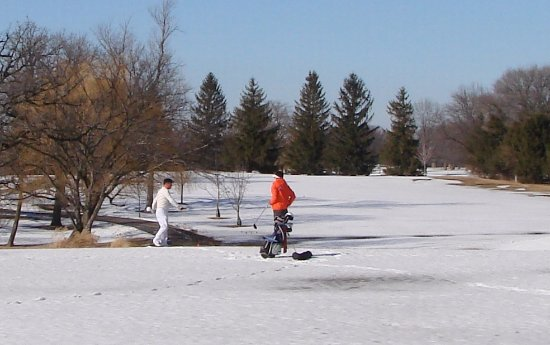 West Chicago, IL: We are open for golf all year.