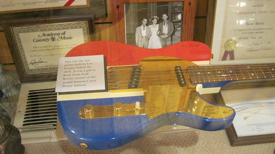 Crystal Palace and Museum: Gold Fender Guitar