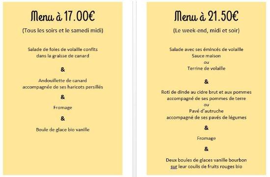 Noiretable, فرنسا: Et c'est sans oublier nos autres plats à la carte savoureux ! :)
