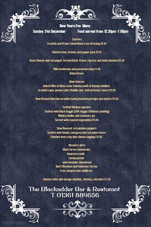 Greenlaw, UK: New years eve menu
