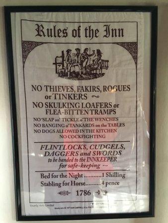 Sudbury, Массачусетс: Rules of the Inn!