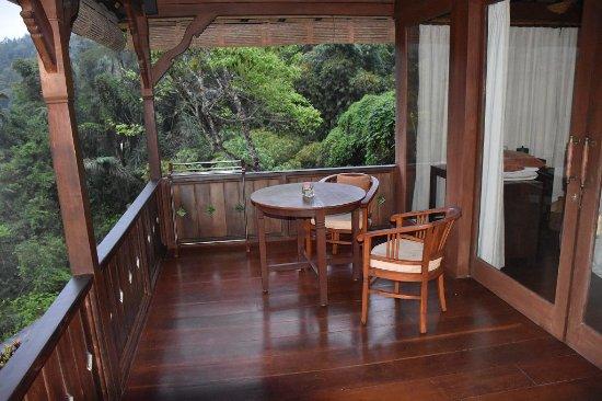 Bagus Jati Health & Wellbeing Retreat : Balkon/Terrasse