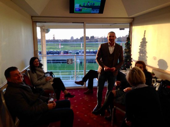 Lingfield Park: Box with TV and balcony