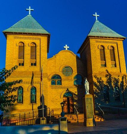 San Albino Church early am light.