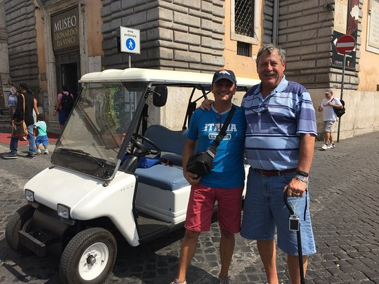 Rudy's Touring Service - Driving & Walking Tours: Rudy & Tom in Piazza del Popolo