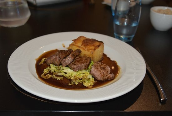 Samlesbury, UK: Not seen shoulder of lamb served like this not the best dauphinoise potato either.