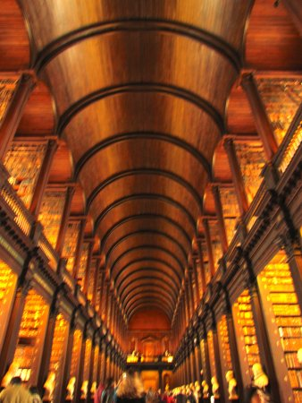 The Book Of Kells And The Old Library Exhibition: The Curved Ceiling In The  Long