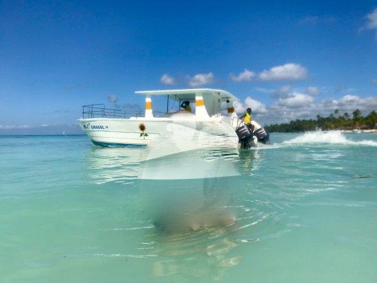 Catalonia Bavaro Beach, Casino & Golf Resort: Le faux speed boat