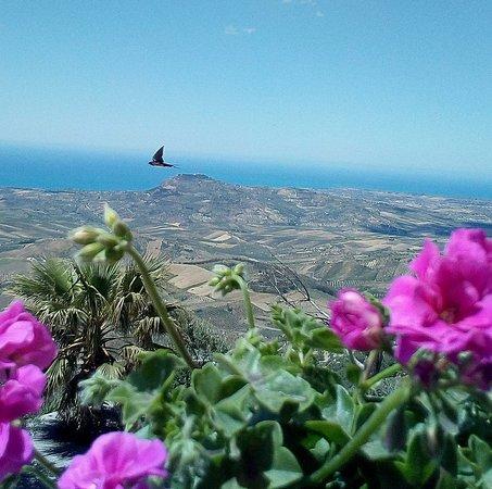 Caltabellotta, อิตาลี: Dal alto si vola...940 m s.l.m...e poi il mare cosi' vicino