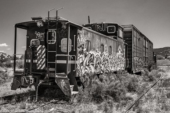 Mark Schumann Photo Tours: Old Train, Train Station - Lamy, NM - Turquoise Trail