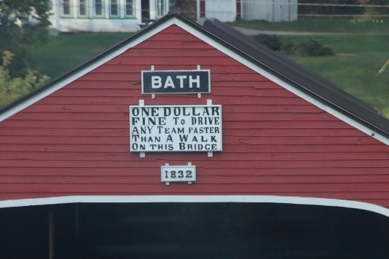 Bath, Nueva Hampshire: The funny saying