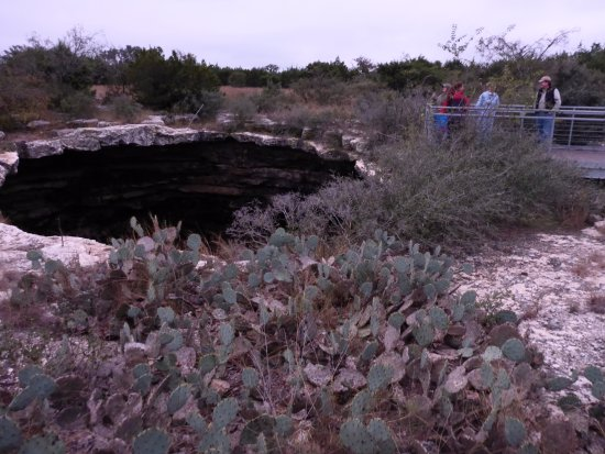 Rocksprings, TX: The cave opening and the overlook.