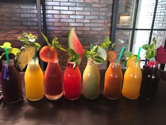 Amo Spa: How to choose just one from our juice bar?!