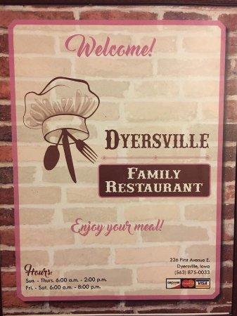 Dyersville, IA: Menu