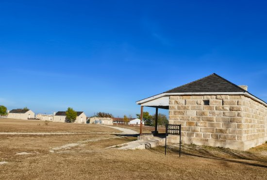 Fort Stockton, TX: This is the guardhouse with the fort in the background.