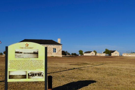 Fort Stockton, TX: The historical sign for the fort.