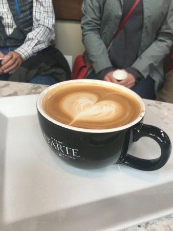 Seattle By Foot: Cafe D'Arte's coffee art