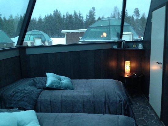 Arctic SnowHotel & Glass Igloos: Inside the igloo