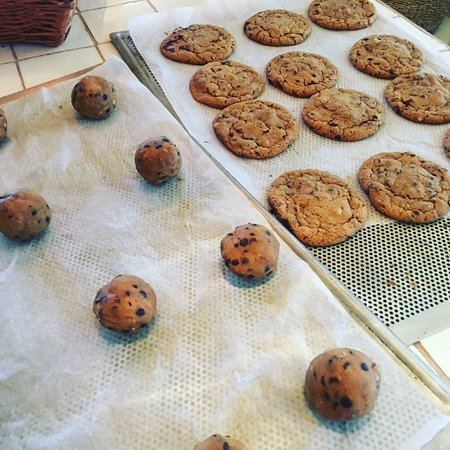 Ishoej, Denmark: homemade cookies with hassle nuts and chocolate