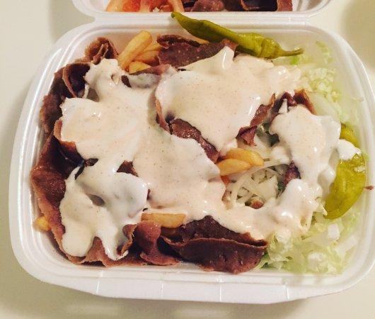 Ronneby, Sweden: Kebabtallrik från Ebbes.