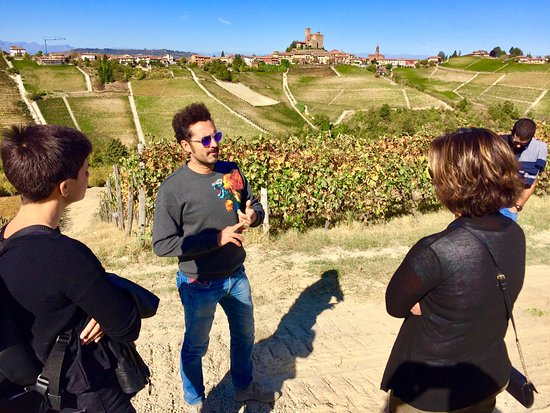 ‪‪Sinio‬, إيطاليا: In the vines with Serralunga in the background‬