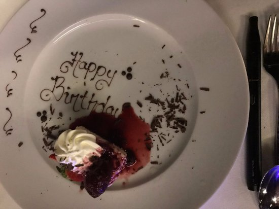 Prospect, Barbados: A nice surprise at the end of the meal!