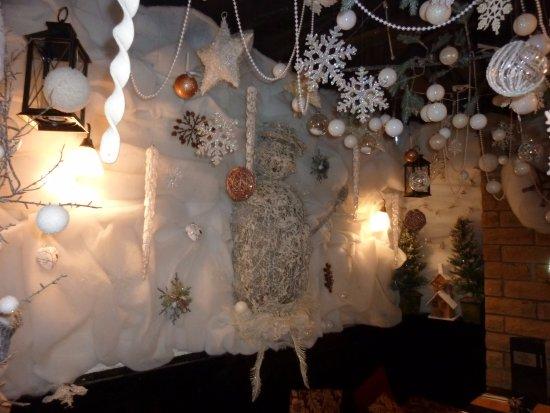 Chapel-en-le-Frith, UK: Christmas decorations