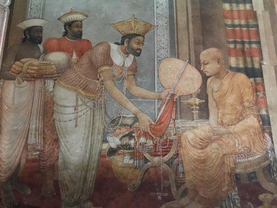 Kelaniya Raja Maha Vihara: 西洋風の仏画。エキゾチックですごい