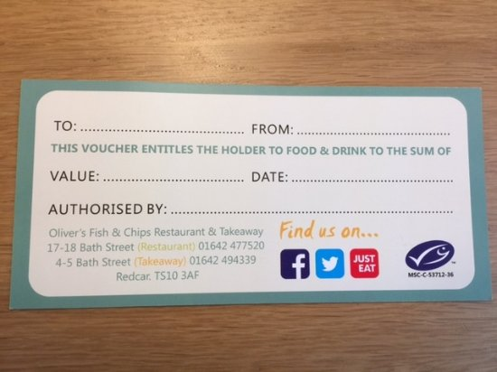 Redcar, UK: GIFT VOUCHERS AVAILABLE ALL YEAR ROUND - POP INTO OUR #TAKEAWAY OR #RESTAURANT TODAY!