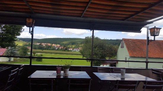 Spalt, Almanya: die terrasse mit ausblick aufs fränkische rezattal