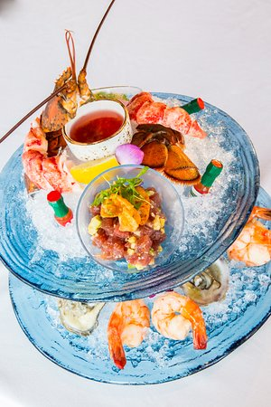 A guest favorite - our stunning seafood tower