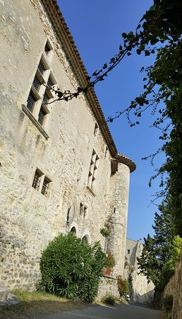 Le Poet-Laval, France : Commander's house on the western edge of town, built into the town walls.