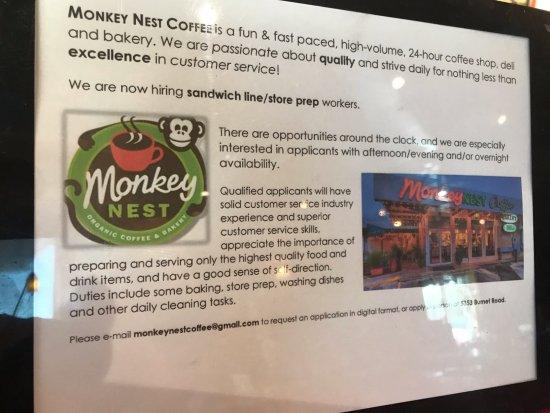 Info - Picture of Monkey Nest, Austin - TripAdvisor