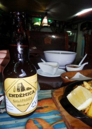 Puerto Baquerizo Moreno, Ecuador: Birra endemica