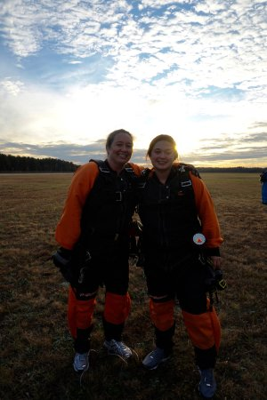 Chester, SC: My daughter and I after our jump, taken by one of the onsite photographers.