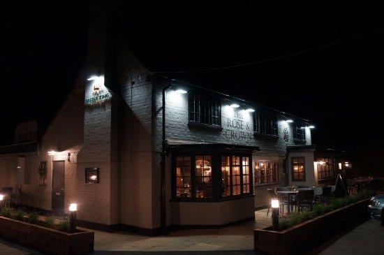 Winkfield, UK: outside at night