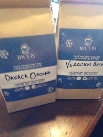 Rico's Café : Whole bean coffee.